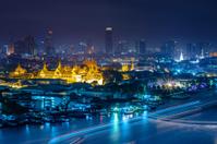 view of Chao Praya River  in twilight. Bangkok, Thailand