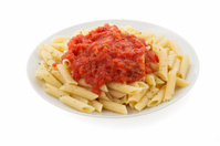 pasta Penne in plate