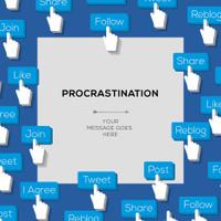 Concept for procrastination with social media addiction