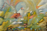 abstract oil painting by B.M.