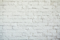 White rough brick wall