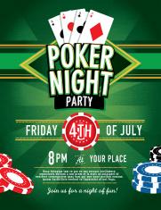 Poker game night invitation design