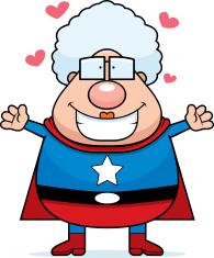 Superhero Grandma Hug