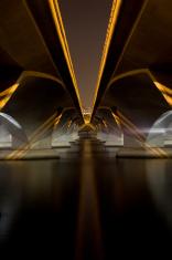 Night scene of Esplanade Bridge Singapore