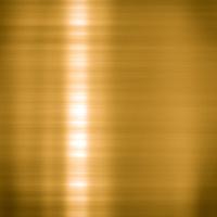 Brushed gold metallic plate