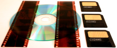 Film negatives, cd, smartmedia