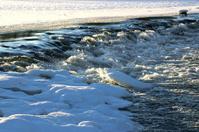 Waterfall winter time