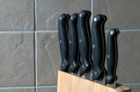 set of kitchen knifes