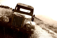 Old 50's Rusty Pickup Truck
