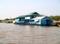 floating village  Tonle sap lake. Cambodia