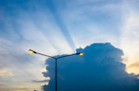 Cloud light sky and light pole