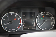 Off-Road Car Dashboard with black and white LED display