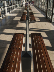 station waiting room bench