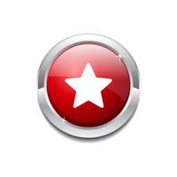 Star Circular Vector Red Web Icon Button
