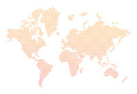 world map orange dots vector
