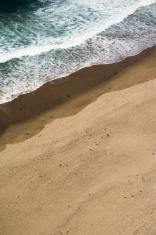 Waves Against Beach