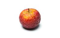 closeup of a sluggish apple