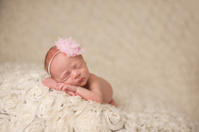 Preemie Sleeping Newborn Girl