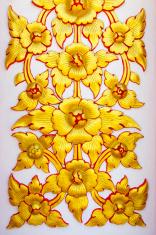 stucco golden flower