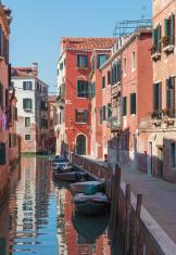 Venice - Look to canal form bridge Ponte dei Gesuiti