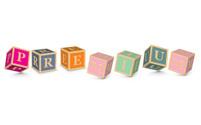 Word PREMIUM written with alphabet blocks