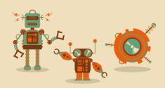 Vintage Retro Robots