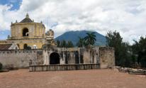 La Merced Church and Agua volcano