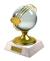 3d gold trophy