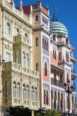 Beautiful spanish buildings in Sevilla