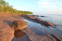 Lake Superior early morning sunlight