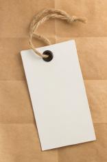 price tag label at paper