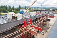 Construction site, highway bridge