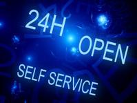 24h open self service