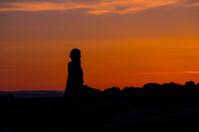 Rock Pinnacles after Sunset Moab Utah