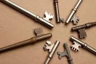 starburst of antique keys