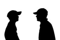 Silhouette of a men.