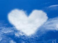heart cloud shape blue sky