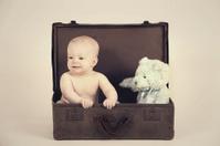 Boy in Vintage Suitcase