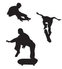 skaters vector