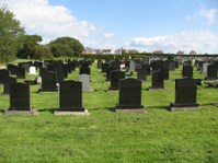 Gravestones at the cemetery