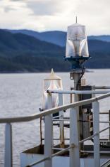 warning lights on a ship