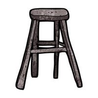 cartoon wooden stool