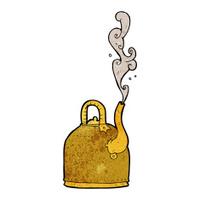 old iron kettle cartoon