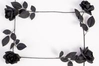 Border - Halloween Black Roses