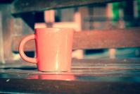 vintage red mug