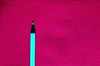 pen on canvas fabric
