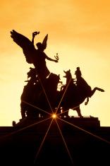 Statue silhouette