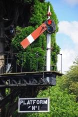 Railway semaphore signal, Hampton Loade.