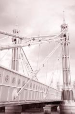 Albert Bridge (1873); Chelsea; London; England