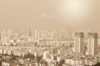 mianyang,china, city panorama